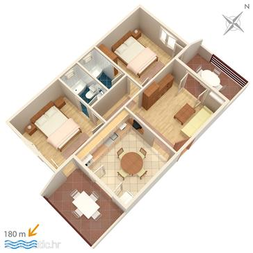 Selce, Plan in the apartment, WiFi.