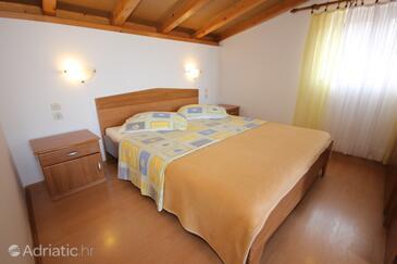 Vis, Ložnice v ubytování typu room, s klimatizací a WiFi.