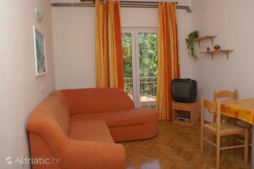 Podaca, Living room in the apartment, dostupna klima, dopusteni kucni ljubimci i WIFI.