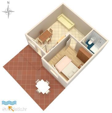 Dajla, Plan in the apartment, WIFI.