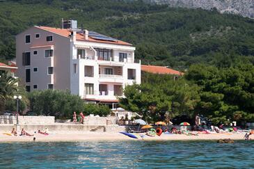 Tučepi, Makarska, Obiekt 3057 - Pokoje przy morzu ze żwirową plażą.