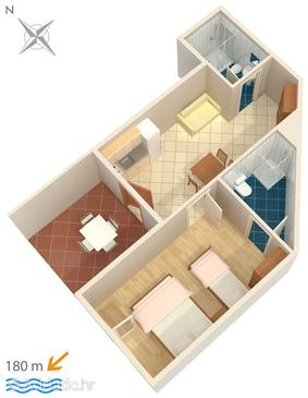 Potočnica, Plan in the apartment, WIFI.
