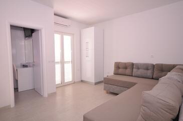 Potočnica, Obývací pokoj v ubytování typu apartment, s klimatizací, domácí mazlíčci povoleni a WiFi.