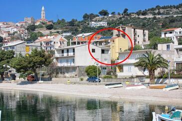 Igrane, Makarska, Objekt 311 - Ubytovanie blízko mora s kamienkovou plážou.