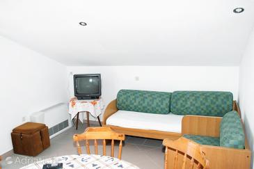 Pag, Гостиная в размещении типа apartment, Домашние животные допускаются и WiFi.