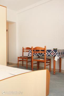 Pag, Esszimmer in folgender Unterkunftsart studio-apartment, Klimaanlage vorhanden, Haustiere erlaubt und WiFi.