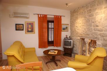 Korčula, Living room in the apartment.