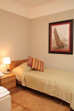 Orebić, Ložnice v ubytování typu room.