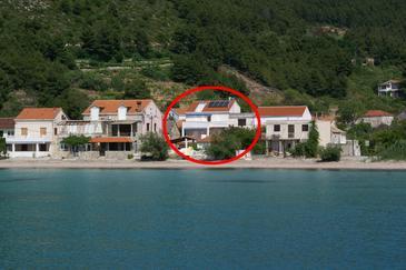 Žuljana, Pelješac, Obiekt 3163 - Pokoje przy morzu z piaszczystą plażą.