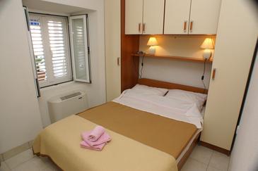 Žuljana, Ložnice v ubytování typu room, klimatizácia k dispozícii a WiFi.