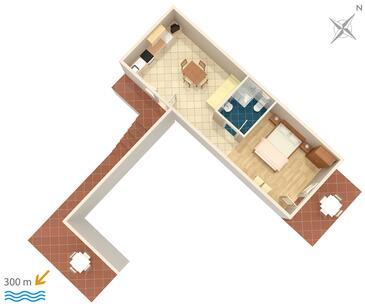 Mlini, Plan kwatery w zakwaterowaniu typu apartment, WiFi.