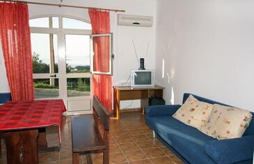 Cavtat, Living room in the studio-apartment.
