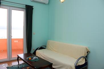Duće, Living room in the apartment.
