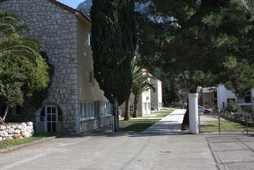 Gradac, Makarska, Obiekt 3186 - Pokoje przy morzu ze żwirową plażą.