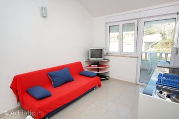Nemira, Living room in the apartment, dopusteni kucni ljubimci i WIFI.