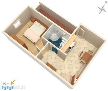 Tučepi, План в размещении типа apartment, WiFi.