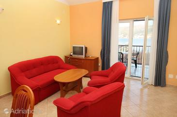 Rogoznica, Living room in the apartment, dostupna klima, dopusteni kucni ljubimci i WIFI.