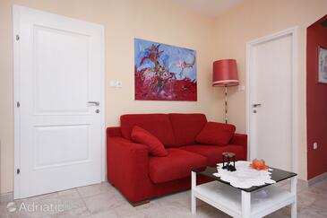 Barbat, Living room in the studio-apartment, (pet friendly) and WiFi.
