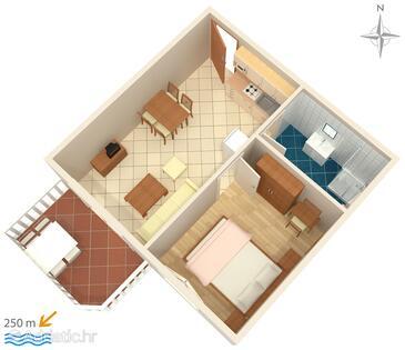Palit, Plan kwatery w zakwaterowaniu typu apartment, WiFi.