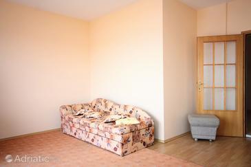 Barbat, Living room in the apartment.