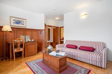 Tisno, Living room in the room, dostupna klima i WIFI.