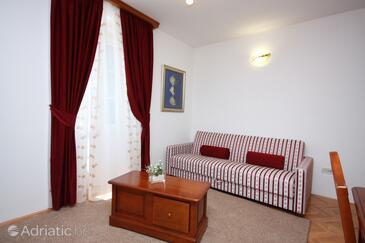 Tisno, Гостиная в размещении типа room, доступный кондиционер и WiFi.
