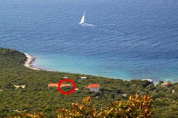Uvala Zuborovica, Pašman, Obiekt 322 - Willa przy morzu z piaszczystą plażą.
