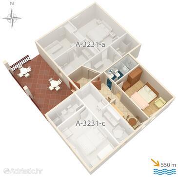 Krk, Plan in the apartment, WIFI.