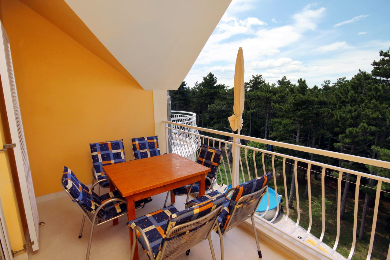 Ferienwohnung im Ort Jadranovo Crikvenica Kapazität 4 2