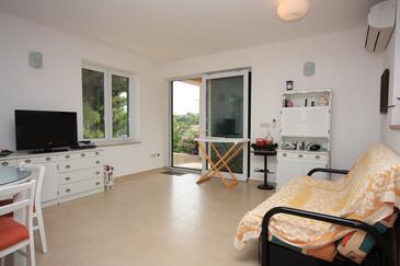Milna, Pokój dzienny w zakwaterowaniu typu house, dostupna klima.