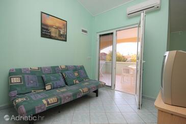 Zaton, Living room in the apartment, dostupna klima, dopusteni kucni ljubimci i WIFI.