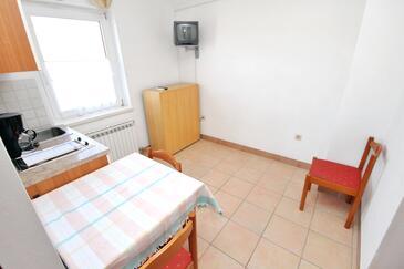 Rtina - Miletići, Jadalnia w zakwaterowaniu typu apartment, dostupna klima i WIFI.