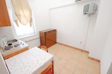 Rtina - Miletići, Dining room in the apartment, dostupna klima i WIFI.