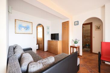 Petrčane, Salon dans l'hébergement en type apartment, animaux acceptés et WiFi.