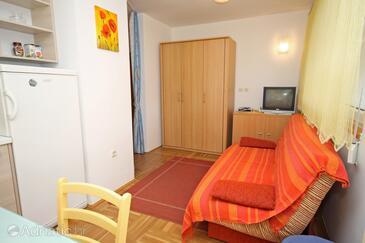 Petrčane, Гостиная в размещении типа apartment, доступный кондиционер и WiFi.
