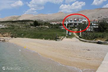 Pag, Pag, Property 3298 - Rooms near sea with pebble beach.