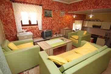 Metajna, Living room in the apartment, dostupna klima, dopusteni kucni ljubimci i WIFI.