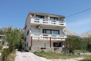 Metajna, Pag, Property 3304 - Apartments near sea with pebble beach.