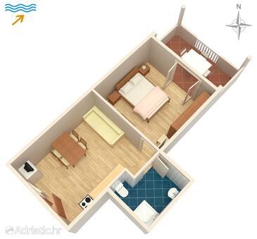 Kraj, Nacrt u smještaju tipa apartment, kućni ljubimci dozvoljeni i WiFi.