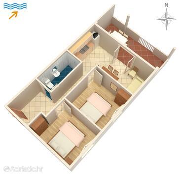Kraj, План в размещении типа apartment, Домашние животные допускаются и WiFi.
