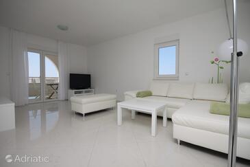 Vidalići, Living room in the apartment, dostupna klima i WIFI.