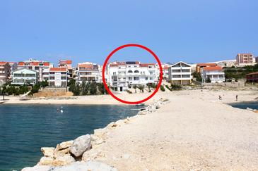 Vidalići, Pag, Property 3313 - Apartments and Rooms near sea with pebble beach.