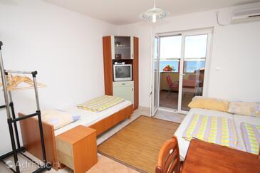 Povljana, Living room in the apartment, dostupna klima, dopusteni kucni ljubimci i WIFI.