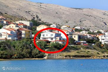 Pag, Pag, Property 3319 - Rooms near sea with pebble beach.