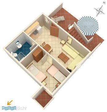 Košljun, Proiect în unitate de cazare tip apartment, animale de companie sunt acceptate şi WiFi.