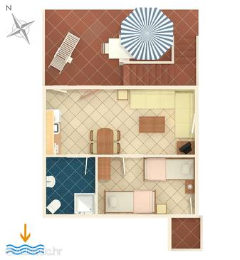 Ko ljun one bedroom apartment with terrace a 3321 c for Apartment wifi plans