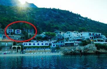 Drašnice, Makarska, Objekt 3330 - Ubytování v blízkosti moře s oblázkovou pláží.