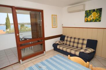 Dajla, Wohnzimmer in folgender Unterkunftsart apartment, dostupna klima, dopusteni kucni ljubimci i WIFI.