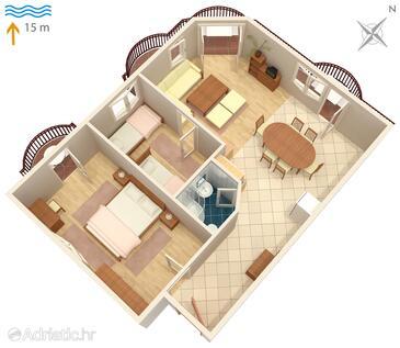 Kraj, План в размещении типа apartment, WiFi.