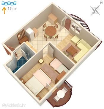 Kraj, Plan in the apartment, WiFi.